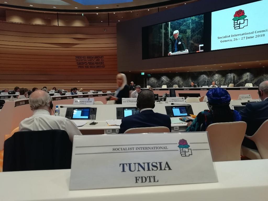 مشاركة التكتل في مجلس الإشتراكية الدولية بجنيف